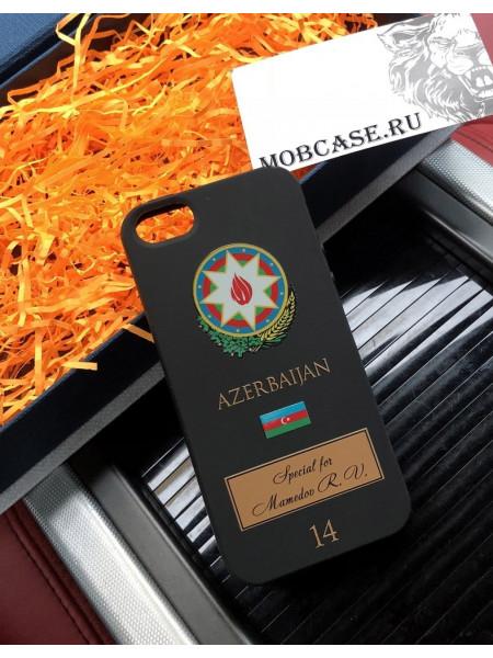 Персональный именной чехол с принтом, гербом Азербайджана Mobcase 636 для iPhone 7/8|7/8Plus|XXS|XSMAX|XR