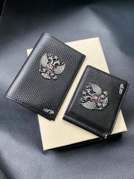 Подарочный комплект ручной работы из двух кожаных аксессуаров Mobcase 1311