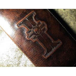Портмоне мужское, кожаное, коричневое ручной работы в винтажном стиле Mobcase 756