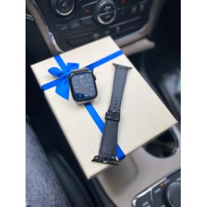 Ремешок из чёрной кожи питона Mobcase 742 для Apple Watch