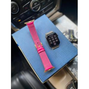 Кожаный розовый ремешок Mobcase 1111 для Apple Watch