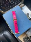 Кожаный, розовый ремешок для Apple Watch: Mobcase 1111