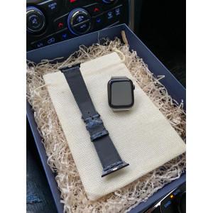Кожаный синий ремешок Mobcase 1080 для Apple Watch