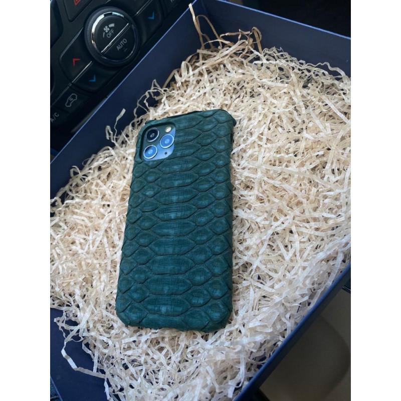 Зелёный, кожаный чехол из кожи питона, Mobcase 109