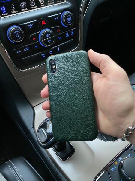 Зелёный, кожаный чехол Mobcase 1061