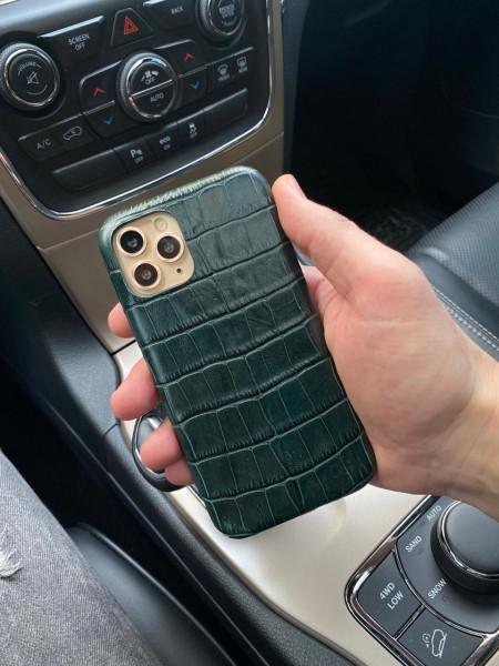 Зелёный, кожаный чехол, Mobcase 1086