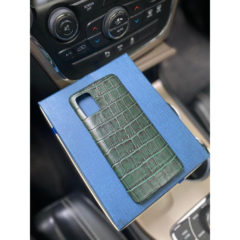 Зелёный кожаный чехол Mobcase 1202 для Samsung Galaxy S20