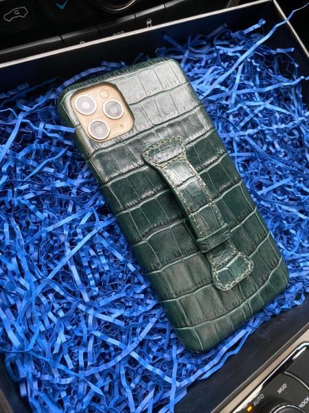 Зелёный, кожаный чехол с кольцом, Mobcase 341