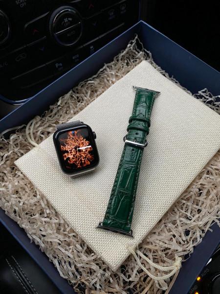 Зелёный кожаный ремешок Mobcase 1065 для Apple Watch