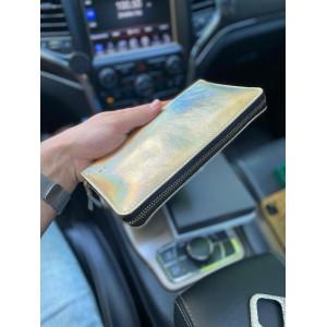 Женский кошелёк ручной работы из золотой кожи Mobcase 1190
