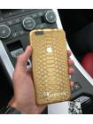 Золотой, именной чехол, кожаный с логотипом Apple, Mobcase 704 для iPhone