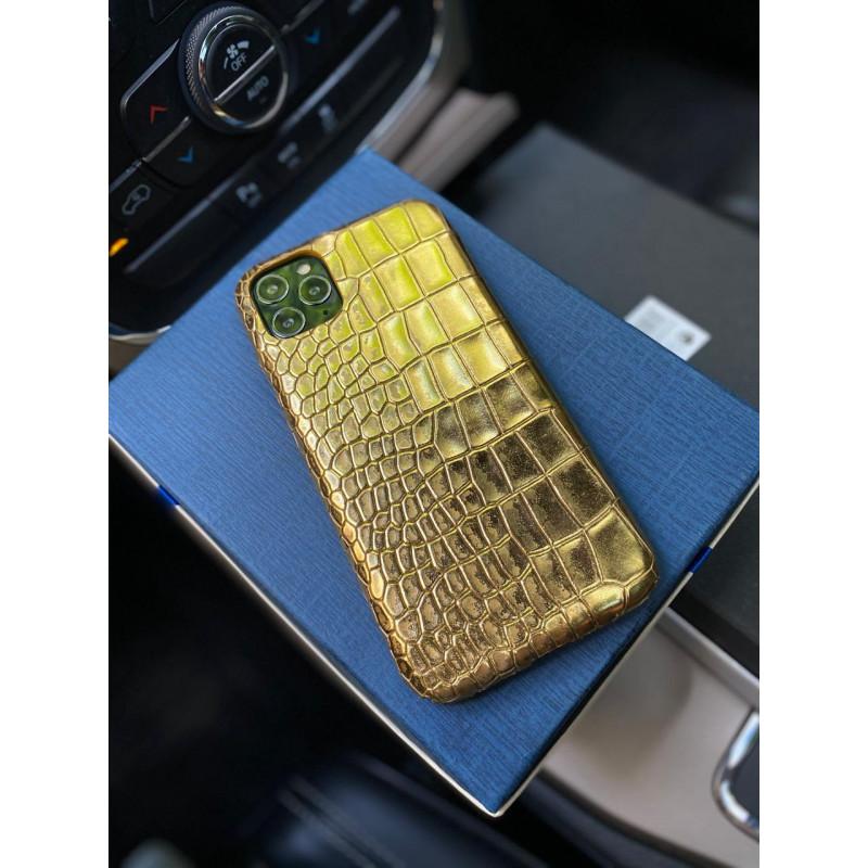 Золотой кожаный чехол ручной работы Mobcase 1182