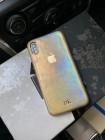 Золотой, кожаный чехол с логотипом Apple Mobcase 1138