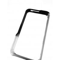 Чехол, бампер, Element Case, Vapor Pro, металлический, серебристо-чёрный на iPhone 4, 4s
