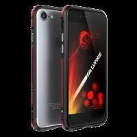 Чехол бампер металлический Luphie Bicolor Чёрно-Красный на iPhone 7 Plus — Прочный