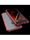 Чехол бампер металлический Luphie, Bicolor, Красный, на iPhone 7 Plus — Прочный