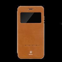 Чехол книжка Baseus, Simple Leather, коричневый, на iPhone 7 — Кожаный