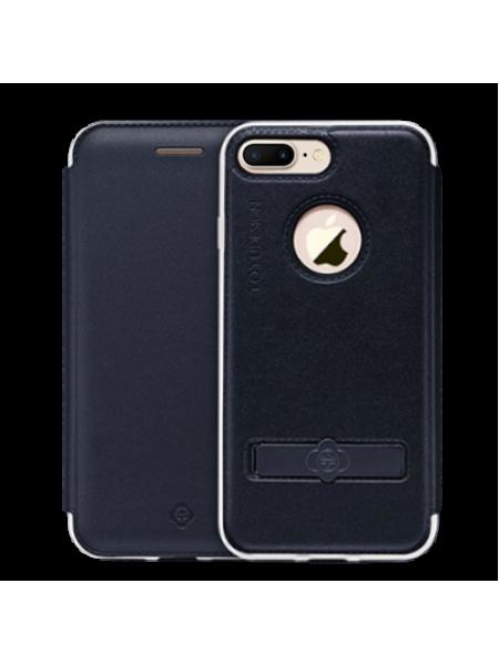 Чехол книжка TOTU Touch Чёрный на iPhone 7 Plus — С подставкой