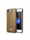 Чехол накладка iCarer Shenzhou Хаки на iPhone 7 Plus — Кожаная