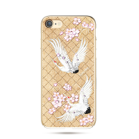 Чехол накладка Kingxbar, Fairy Land, журавль, для iPhone 7 — Swarovski