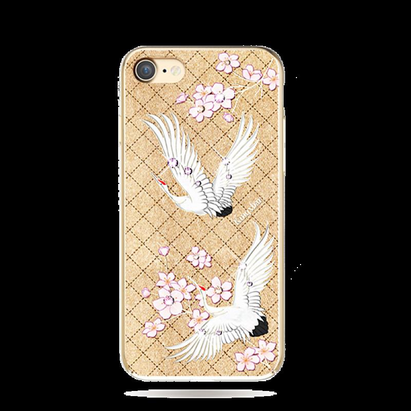 Чехол накладка Kingxbar, Fairy Land, журавль, для iPhone 7 — Swarovski
