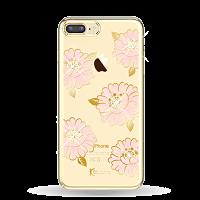 Чехол накладка Kingxbar Flower Sea Пион на iPhone 7 Plus — Swarovski