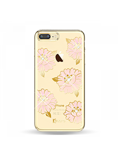 Чехол накладка Kingxbar Flower Sea Пион на iPhone 7 Plus — Swarovski