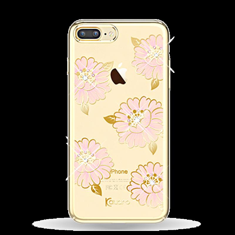 Чехол накладка Kingxbar, Flower Sea, Пион, на iPhone 7 Plus — Swarovski