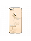 Чехол накладка Kingxbar, Gold Джейд, стрекоза, на iPhone 7 — Swarovski