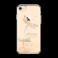 Чехол накладка Kingxbar Gold Джейд стрекоза на iPhone 7 — Swarovski