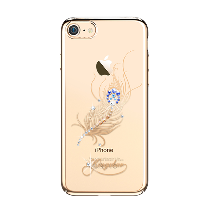 Чехол накладка Kingxbar, Gold, оперение, на iPhone 7 — Swarovski