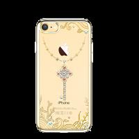 Чехол накладка Kingxbar Sky Gold Любовь на iPhone 7 — Swarovski