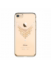 Чехол накладка Kingxbar, Sky Gold Роса, на iPhone 7 — Swarovski