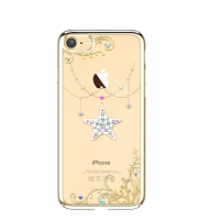 Чехол накладка Kingxbar, Sky Gold, Звезда, на iPhone 7 — Swarovski
