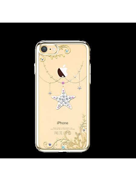 Чехол накладка Kingxbar Sky Gold Звезда на iPhone 7 — Swarovski
