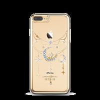 Чехол накладка Kingxbar Twinkling Золотая Луна на iPhone 7 Plus — Swarovski