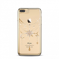 Чехол накладка Kingxbar Twinkling Золотая звезда на iPhone 7 Plus — Swarovski