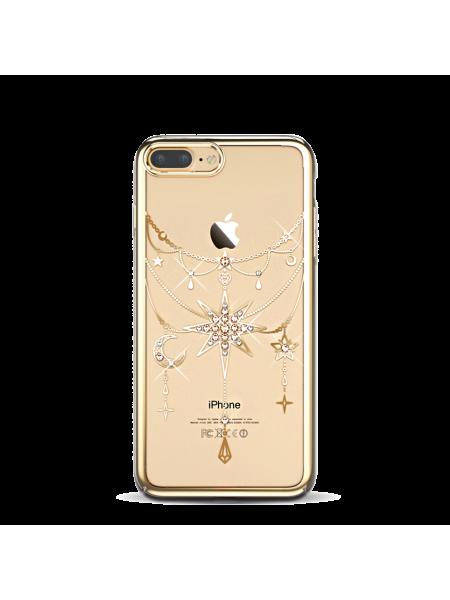 Чехол накладка Kingxbar, Twinkling, Золотая звезда, на iPhone 7 Plus — Swarovski