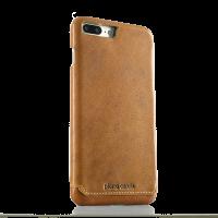 Чехол накладка Pierre Cardin Коричневая на iPhone 7 Plus — Кожаная