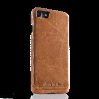 Чехол накладка Pierre Cardin Коричневая на iPhone 7 — Премиум, кожаная