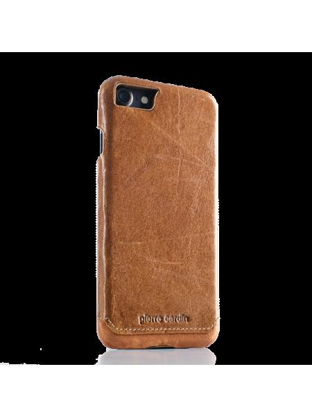 Чехол накладка, Pierre Cardin, Коричневая, на iPhone 7 — Премиум, кожаная