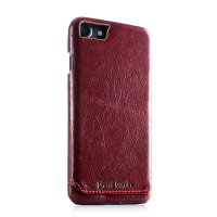 Чехол накладка Pierre Cardin красная на iPhone 7 — Премиум, кожаная