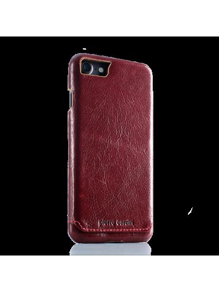 Чехол накладка, Pierre Cardin, красная, на iPhone 7 — Премиум, кожаная