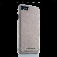 Чехол накладка Pierre Cardin Серая на iPhone 7 — Премиум, кожаная