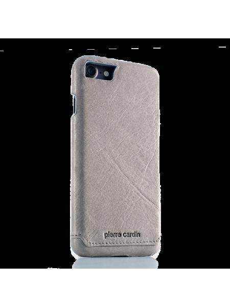 Чехол накладка, Pierre Cardin, Серая, на iPhone 7 — Премиум, кожаная
