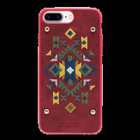 Чехол накладка POLO RACQUET CLUB Bohemia Красная на iPhone 7 Plus — Кожаная