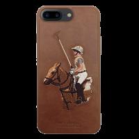 Чехол накладка POLO RACQUET CLUB Jockey Коричневая на iPhone 7 Plus — Оригинальная
