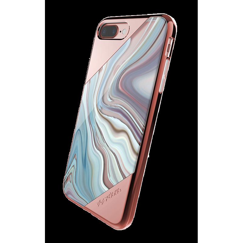Чехол накладка X-Doria, Revel Lux, Золотая Роза, на iPhone 7 Plus — Прикольная