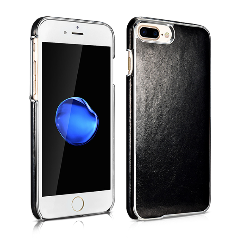 Чехол накладка Xoomz Electroplating Чёрная на iPhone 7 Plus — Винтажная