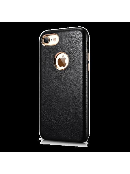 Чехол накладка Xoomz, Liquidmetal, на iPhone 7 — Чёрный эко-кожа